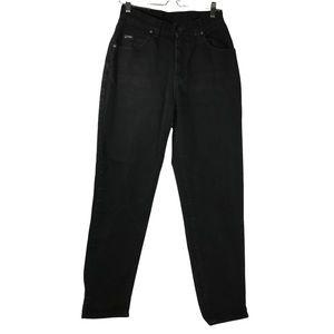 Lee High Waisted Straight Leg Rise Mom Denim Jeans Black 8